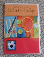 WISHING YOU A HAPPY 30th Birthday Sports Greetings Card