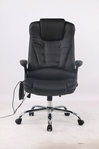 Electric Massage Chair 6 Point Leather Executive Home Office Computer Desk Chair