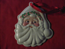 Lenox Holiday Santa Claus Cookie Press Mould Ornament Unused With Label