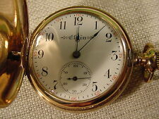 Elgin Model 2 320 Grade Pocket Watch 14 Kt Hunter Case w/ 4 Diamonds 0 Size 7 J
