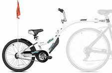 WeeRide Kids Co-Pilot Bike Trailer, White Ages 4-9