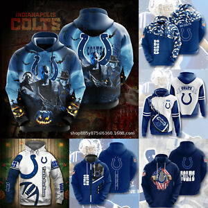 Indianapolis Colt Footbball Hoodie Hooded Sweatshirt Active Pullover Jacket Gift