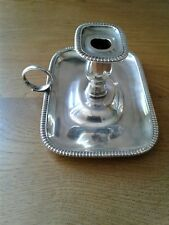 Antique George III solid sterling Silver Chamber Candlestick London 1808