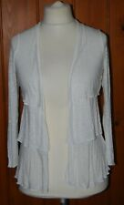 Monsoon, Ladies, Light, White, Tiered, Casual, Cardigan, Cardi, size S (8-10)