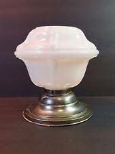Vtg Antique Art Deco Lamp Light Ceiling Fixture Milk Glass 1930s Globe Shade 30s