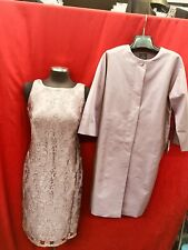 """ADRIANNA PAPELL DRESS AND JACKET/NEW WITH TAG/RETAIL$299/SZIE 4/MAUVE/LENGTH39"""""""