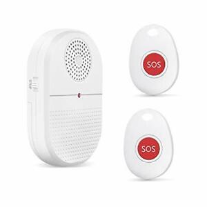 Notrufknopf für Senioren 1 Empfänger +2 Sender Caregiver Pager Mobiler Alarm S