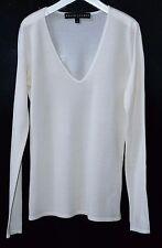 Ralph Lauren Black Label Bianca in Seta-cachemire maglione taglia XS