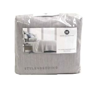 Hotel Collection 525 TC 100% Cotton ASH Yarn Dyed Full / Queen Duvet BRAND NEW