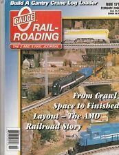 O Gauge Feb 2000 - Crawl Space Layout - Gantry Crane Log Loader - Highball