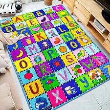 """Classroom Rug Play Mat Kid Number Animal Floor Educational Toy Gift Large 59x44"""""""