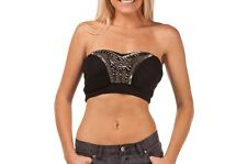 Mooloola Bling Bling Crop Top Size 10 Black