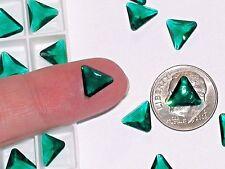 10pc Vintage Crystal SWAROVSKI Triangle lot Rhinestone unfoiled no hole 10mm GN*