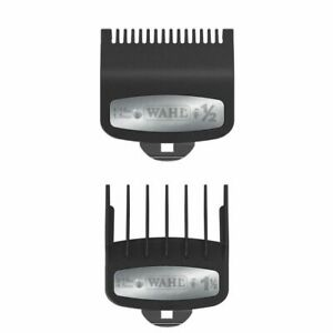 Wahl Premium Clipper Cutting Guides Guards Metal Clip 2pc Set  #1/2 & #1 1/2