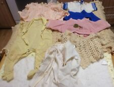 Vintage 1940s &50's Huge Lot Baby/Doll Clothes Mixed Various Sizes,+ Doll Trunk