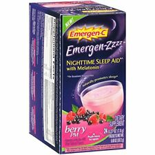 Alacer Emergen-C Nighttime Berry PM Sleep Aid 24 Count