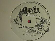 "P'ZZAZZ I HEARD IT THROUGH THE GRAPEVINE / YOU TAUGHT ME TO DANCE 12"" PROMO '80"