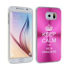 For Samsung Galaxy S7 S4 S5 S6 Edge + Hard Case Keep Calm and Be A Princess