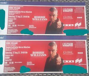 ROBBIE WILLIAMS KONZERT TICKETS MÜNCHEN 27.08.2022 - 2 TICKETS STEHPLATZ SILBER