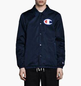 Champion Coach Jacket Men's Dark Blue Casual Activewear Outwear Top