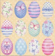 2 Serviettes en papier Pâques Oeuf coloré Decoupage Paper Napkins Easter Eggs