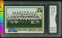 1981 Topps #664 Chicago White Sox Team Card Graded GMA 8.5 NM-MT+