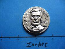 1.3 OZ ABRAHAM LINCOLN ILLINOIS PRESIDENT CIVIL WAR HIGH RELIEF 999 SILVER COIN