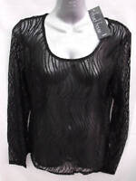 ~BNWT Womens Sz 12 Designer David House Brand Black Lace Layering Top RRP $150~