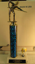 """Pool Billiards Trophy 9 or 8 Ball Tournament 13""""  FREE Engraving 2 Day Mail MorF"""