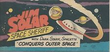 WISCO PROMO JIM SOLAR SPACE SHERIFF CONQUERS OUTER VITAL GIVEAWAY RARE NM