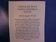 1954,1955,1956 CHRYSLER Body Parts/Frame Guide--old authentic repair shop info