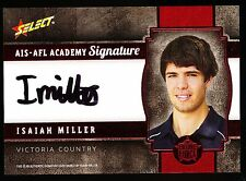 2013 Select Future Force Isaiah Miller Signature  AIS AFL Academy 052 of 200