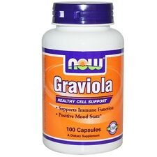 NOW Foods Graviola 100 Caps 500MG Soursop Supports Immune Function Mood State