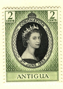 ANTIGUA 1953 CORONATION COMPLETE SHEET OF 60 STAMPS MNH (2)