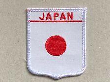 Ricamate Giappone bandiera bandiera aufbügler Patch 9 x 6 cm
