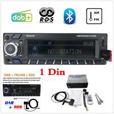 1 Din Car Radio RDS+AM FM MP3 Player Stereo Bluetooth DAB In-Dash AUX USB TF ISO