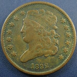 1832 Classic Head Half Cent Penny 1/2C - Solid VF, Nice Piece