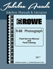 Rowe R-88 Jukebox Service Manual, Parts Lists & Troubleshooting Guide IN COLOR!