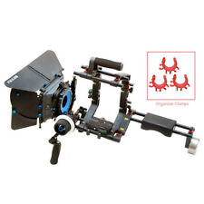 """SHOOTVILLA Camera Cage 9""""Shoulder kit with Swing Away Matte box and follow focus"""