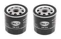 2 x SCT Germany Oil Filter Audi/Seat/Skoda/VW sm836