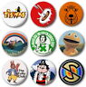 "KIDS RETRO -1970's -- 25mm, 1"" Button Badge Pin (Various design) Cute Classic TV"