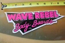 Wave Rebel Body Boards Boogey 1987 Pink Bodyboarding V17 Vintage Surfing Sticker