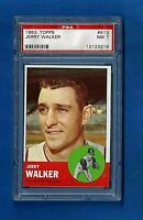 1963 TOPPS BASEBALL #413 JERRY WALKER PSA 7 NM CLEVELAND INDIANS