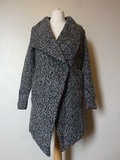 H&M Double-breasted Wool Blend Lined Coat Size 6 Dark Grey Marl