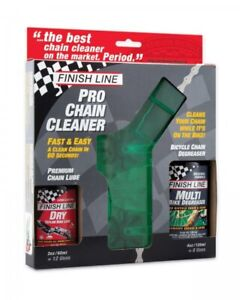 Finish Line Pro Chain Cleaner Kit New Included Lubricant And Degreaser