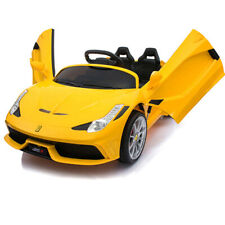 Kids Ride on Car Childrens Electric Toy Battery Power MP3 Yellow 12V