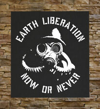 Earth Liberation BACK Patch - Front First ELF Animal Rights Human Environmental