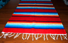 Serape Table Runner Table Topper 2x5' Southwestern Fiesta Lightweight RED
