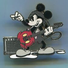 DISNEY MICKEY PIN ROCKER With ELECTRIC GUITAR & AMP