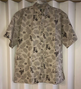 VTG Tori Richard Khaki/Brown BSA 2010 Hiking~Camping~Exploring Shirt~L~NWOT